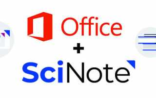 MS office and SciNote integration