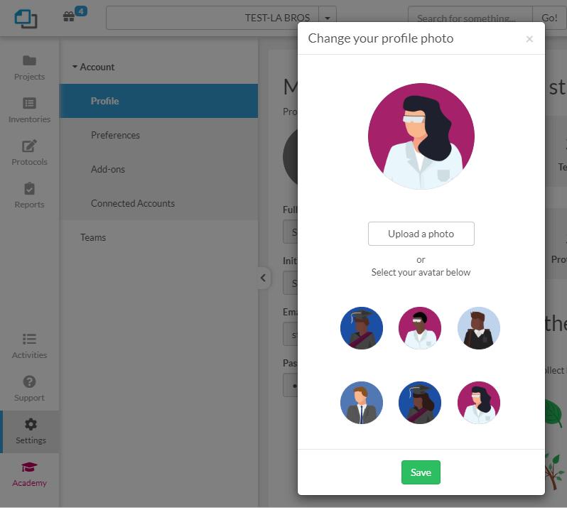 SciNote avatars