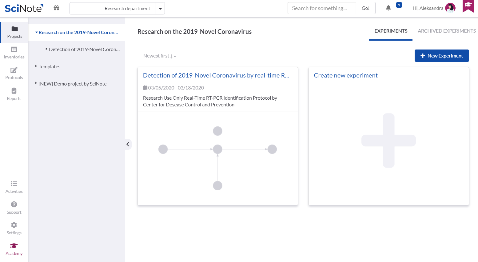 Task workflow management for COVID-19