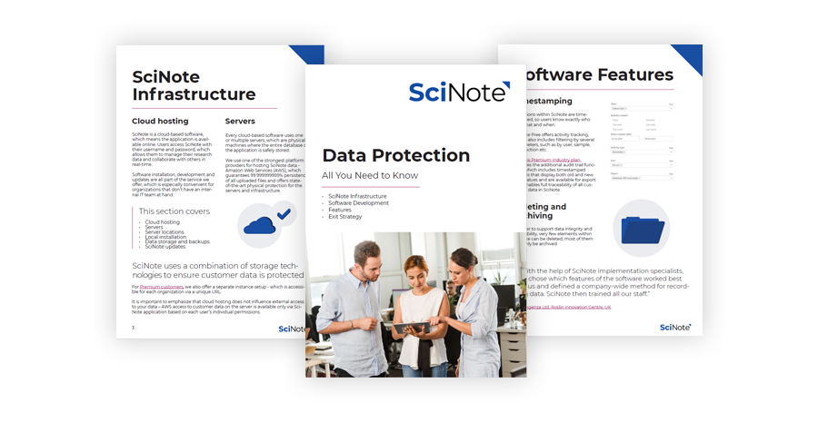 Scinote data protection whitepaper