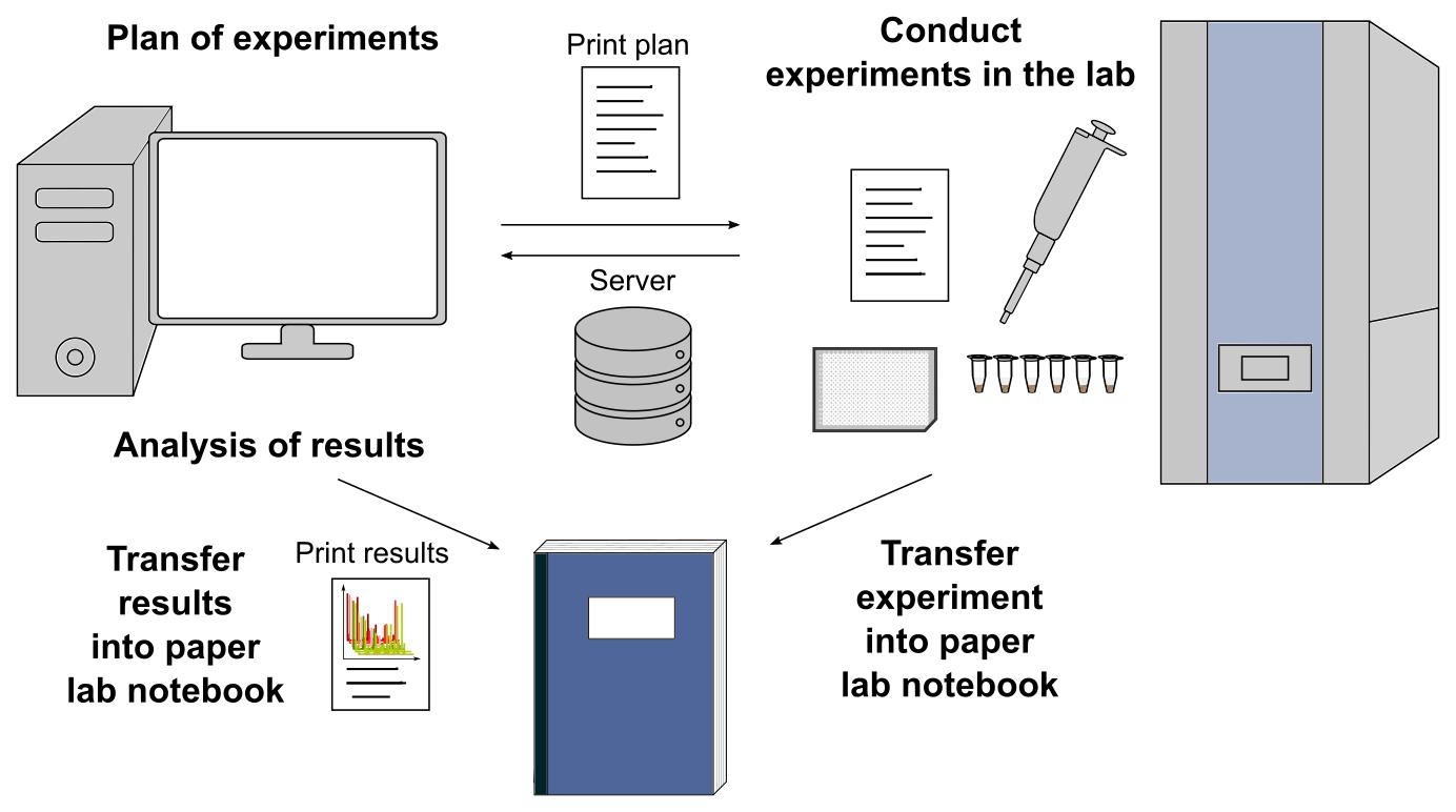 Standard workflow in a lab
