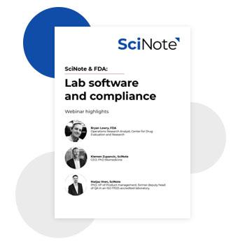Scinote FDA workbook