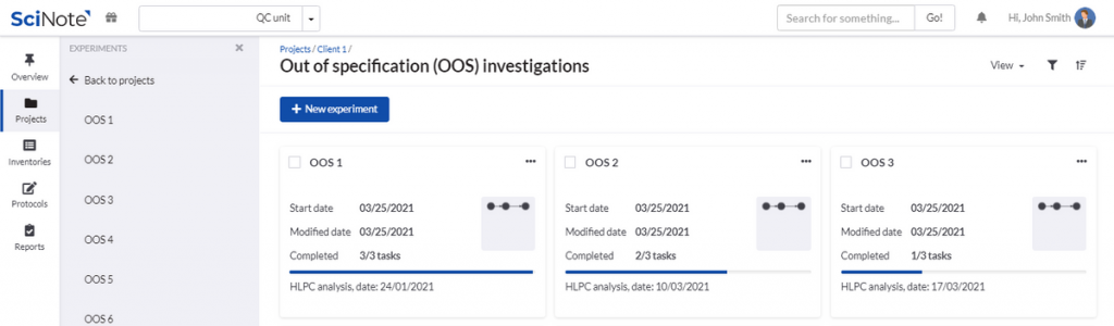 OOS investigations